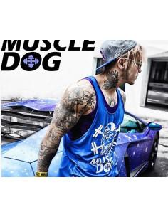 Спортивная майка для бодибилдинга Muscle Dog Blue лот 397