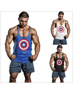 Спортивная майка Captain America Black лот 4011
