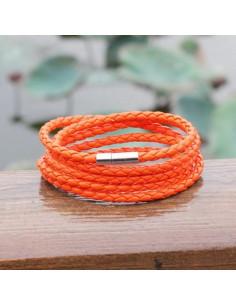 Плетённый браслет CoolMan Orange BR007