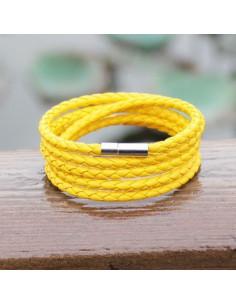 Стильный желтый браслет CoolMan Yellow BR008