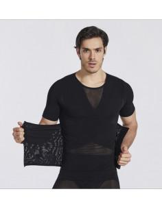 Бандаж мужской с корсетом Black 7004