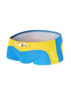 Мужские стильные плавки Aware Желто Голубой  041