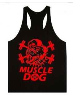 Майка для фитнеса Muscle Dog Black\Red лот 398