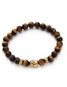 Мужской браслет из камня Tiger Eye BR014