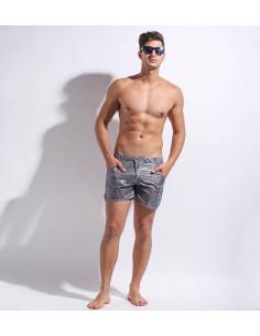 Мужские пляжные шорты Desmiit Wave Gray  321