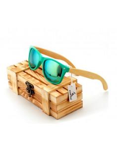 Мужские очки с деревянными дужками Style Turquoise W015