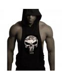 Безрукавка с капюшоном Skull Black лот 4027