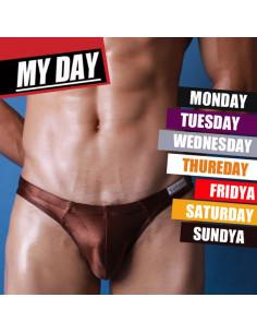 Мужские трусы бикини Super Body Week Brown 2035