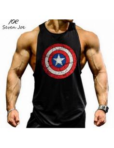 Майка Капитан Америка Black 4051