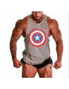 Майка спортивная мужская Captain America Gray лот 4052