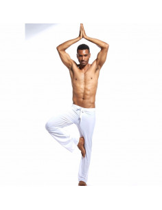 Пижамные брюки мужские White  862