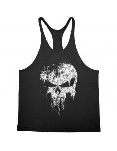Майка  с черепом чёрная Skull   4054