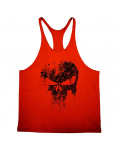 Майка мужская  с черепом красная Skull  лот 4056