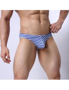 Стринги синие для мужчин Tiku Stripe лот 792