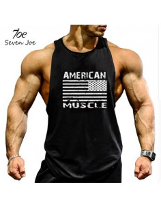 Мужская черная майка American Muscle 4058