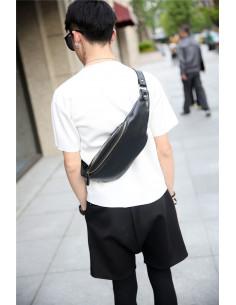 Сумка нагрудная Slim Bag Black лот SH014