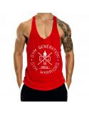 Красная майка для зала Gym Warriors лот 4063