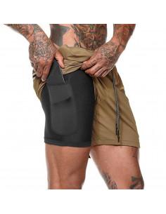 Спортивные шорты с карманом для телефона Gold Khaki лот 3395