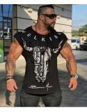 Мужская футболка со спущенным плечом лот 4078