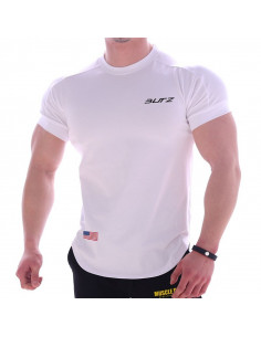 Футболка однотонная белая Butz лот 4082