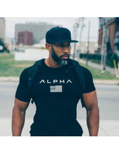Мужская футболка Alpha Black лот 4084