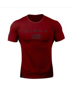 Красная футболка мужская Alpha Red лот 4086