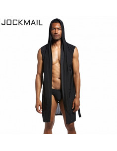 Мужской халат под шёлк Home Black  JM130