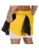 Шорты для спорта мужские Sport Shorts Yellow 3405