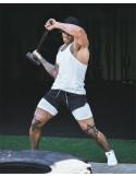 Мужские спортивные шорты 2в1 Sport Shorts Black 3407