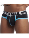 Трусы черно-голубые Jockmail JM238